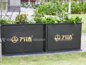 成都户外铁艺花箱H-18168