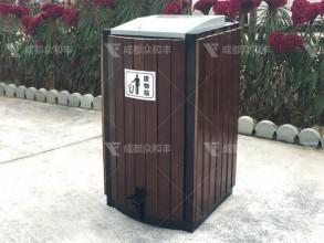 成都户外钢木垃圾桶T-18163