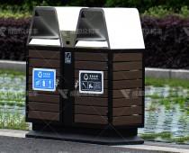 成都户外不锈钢环卫垃圾桶T-18164