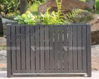 成都户外塑木花箱H-18154