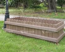 成都户外道路塑木花箱H-18178