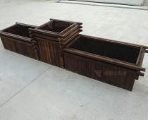 成都户外防腐木花箱H-18039-2