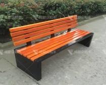 成都室外不锈钢防腐木公园椅Y-18106