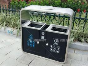 成都不锈钢户外垃圾桶T-18171