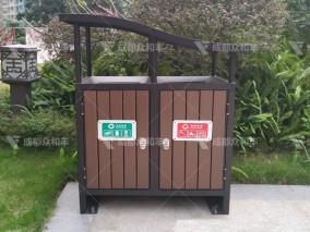 成都户外不锈钢环卫垃圾桶T-18180