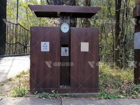 成都户外不锈钢垃圾桶T-18181