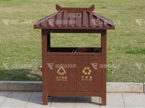 成都镀锌板环保垃圾桶T-18183