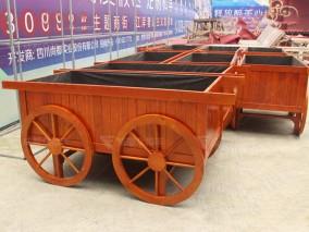 成都公园防腐木花箱H-18017