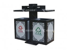 成都定制镀锌板垃圾桶T-18160