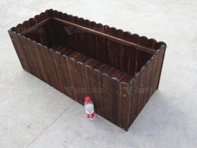 成都户外防腐木花箱H-18039-1