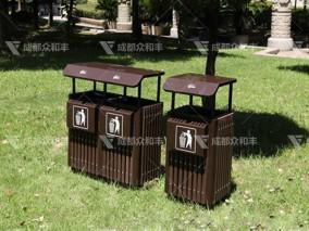 成都镀锌板环保垃圾桶T-18174