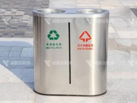 成都户外不锈钢环保垃圾桶T-18169