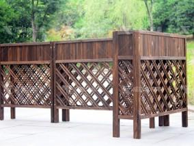 成都户外实木围栏花架H-18014