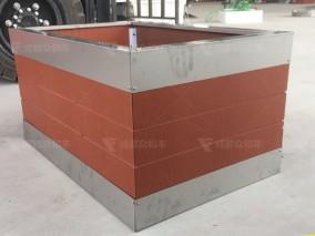 不锈钢包边PVC微发泡花箱H-18019